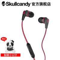 SKULLCANDY INKD 2.0 IN-EAR(音客)手机线控带麦入耳式耳机 黑红色