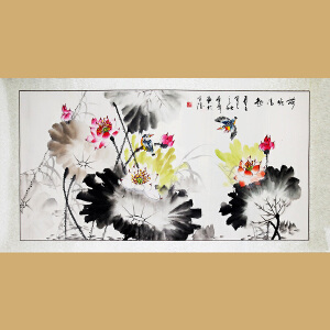 中国书画家协会会员、著名书画家孙金库先生作品――荷塘清趣