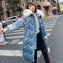 【限时抢购】2019新款冬季棉服女韩版中长款加厚宽松大码棉袄外套金丝绒bf棉衣