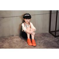 春秋季款糖果色�和�帆布鞋高�湍��g�N板鞋男童女童鞋潮