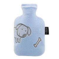 0.8升卡通外套PVC防爆安全环保充水注水热水袋暖手宝暖腰宝