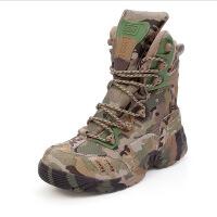AOTU 山地兵 男士户外登山靴作训鞋训练营徒步靴迷彩靴 迷彩色