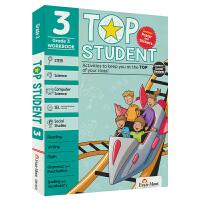 【首页抢券300-100】Evan-Moor Top Student Grade 3 美国加州教辅优等生系列英文原版练习