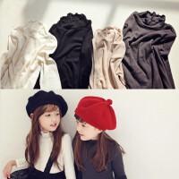 韩国童装 秋冬新款韩版女童花边纯棉纯色长袖T恤儿童 打底衫