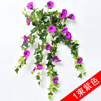 仿真牵牛花藤条壁挂室内垂吊塑料假花吊兰墙面装饰花藤蔓植物挂花
