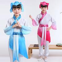 小书童三字经演出服儿童古装汉服男女童弟子规国学服六一表演服装