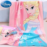 迪士尼Disney公主冰雪奇缘女王纱布浴巾 纯棉大浴巾 卡通 柔软