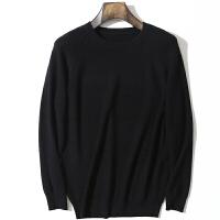 秋冬季男士加厚羊绒衫羊绒个性前卫圆领套头修身显瘦毛衣针织衫