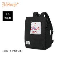 女士双肩包女韩版潮百搭书包迷你小背包新款时尚包包 6_黑色 标准版