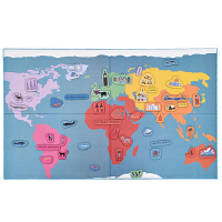 磁性拼拼乐儿童玩具2-3-6岁地理拼图地图