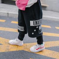 新款童装休闲裤冬季加绒假两件长裤儿童保暖休闲裤中小童宝宝裤子