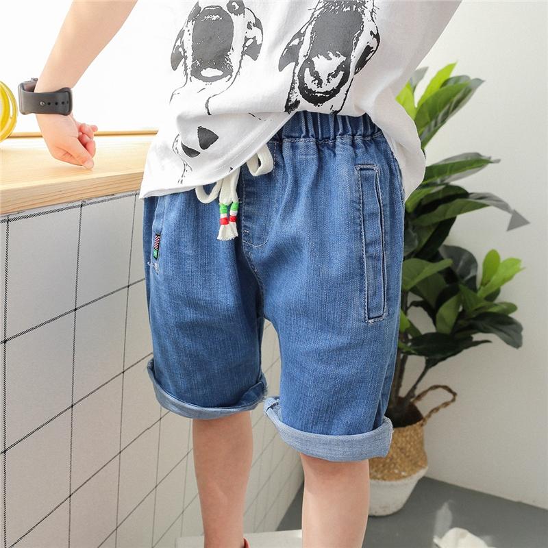 男童牛仔短裤夏装五分裤2018新款夏季韩版时尚纯棉薄款儿童中裤潮 发货周期:一般在付款后2-90天左右发货,具体发货时间请以与客服协商的时间为准