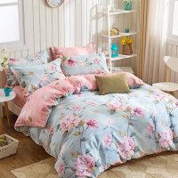 家�床上四件套�棉1.5m1.8m被套床上用品床�误铱钕募救�棉小碎花清新