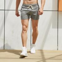 运动裤男修身短裤男士三分裤纯棉超短裤跑步3分裤子居家睡裤