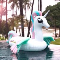 小马宝莉坐骑水上充气彩翼独角兽彩虹兽七彩虹马飞天马浮排游泳圈