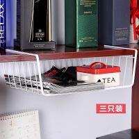欧润哲 3件套厨房用具下挂篮冰箱挂架书架 浴室收纳篮简易衣柜整理架置物架