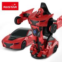 一键变形声光玩具小汽车变形机器人 儿童星辉RS战警合金车模型玩具