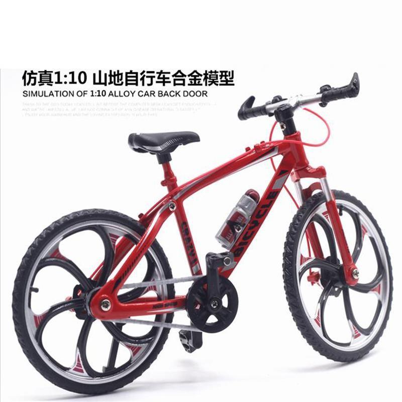 仿真公路自行车模型玩具迷你合金山地自行车赛车折叠单车模型摆件SN5803 山地自行车红色 送螺丝刀