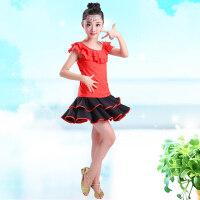 儿童拉丁舞蹈服女童演出服短袖练功服