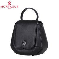 梦特娇(MONTAGUT)链条包新款女士斜挎包欧美时尚斜挎单肩包迷你小包包女包 黑色