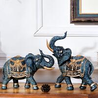 家居饰品客厅酒柜摆件装饰品大象欧式摆设软装书柜办公室装饰