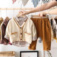 男童春秋套装男宝宝潮装三件套一周岁男孩衣服小童外出服