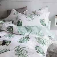 家纺北欧床上四件套全棉纯棉小清新床单被套床笠款宿舍三件套