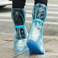 成人户外加厚耐磨防水雨鞋套透明高筒雨靴套男女防滑水鞋