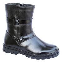AOTU 马靴男靴子中筒牛皮靴子 男高筒军靴 骑士皮靴