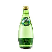 [当当自营] 法国进口 巴黎水青柠味天然含汽矿泉水330ml*24 整箱(Perrier) 矿泉水