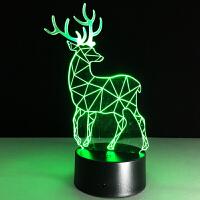 创意3D七彩触控遥控可拆卸LED台灯 旅游帐篷灯 多功能直交流电双用