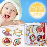 新生儿婴幼儿宝宝玩具0-1岁手摇铃婴儿玩具牙胶摇铃0-3-6-12个月