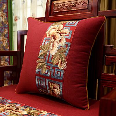 红木沙发坐垫 中式实木家具滑定做圈椅垫靠垫 罗汉床垫子五件套J