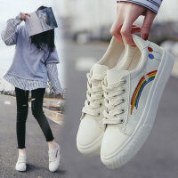 户外小白鞋女时尚百搭女鞋子休闲运动潮鞋韩版帆布鞋