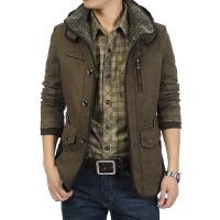 冬装加厚款棉衣男士夹克工装户外加绒棉袄中年爸爸装冬天保暖外套
