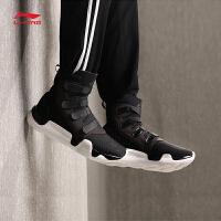 李宁休闲鞋女鞋新款Samurai飒缪减震一体织情侣鞋潮流运动鞋AGWN016