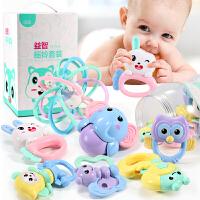 婴儿摇铃玩具3-6-12个月益智手摇铃宝宝软胶0-1岁