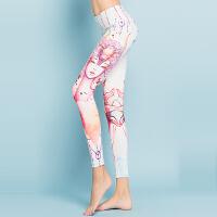 20180411133424523十二星座 紧身瑜伽裤 女 个性3D印花瑜伽服 运动健身裤春夏九分裤