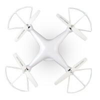 儿童仿真四轴飞行器稳定悬停无头定高WiFi实时传输语音控制拍照遥控无人机模型男孩玩具 白色