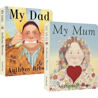 【首页抢券300-100】My Mum My Dad 我爸爸&我妈妈2册 Anthony Browne 安东尼布朗 儿童