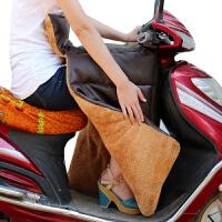 皮革电动车挡风被分体冬季电动摩托车罩电瓶车挡风被加厚加绒保暖