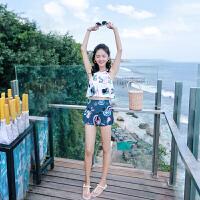 泳衣女三件套韩国泡温泉泳装小胸聚拢保守遮肚显瘦性感游泳衣分体
