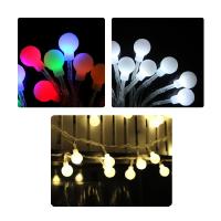 4米LED磨砂乳白圆球龙珠电池灯串 圣诞彩灯 节日装饰串灯