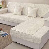 家纺 2017秋冬新款坐垫全棉沙发垫布艺现代简约坐垫沙发巾沙发罩沙发套 米