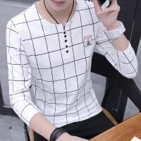 男士长袖T恤春季韩版潮流学生上衣套头圆领衣服体恤打底衫卫衣男