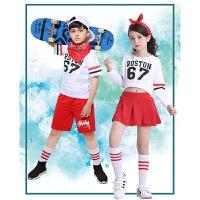 演出服表演服啦啦操表演服装套装男女童儿童嘻哈街舞爵士舞