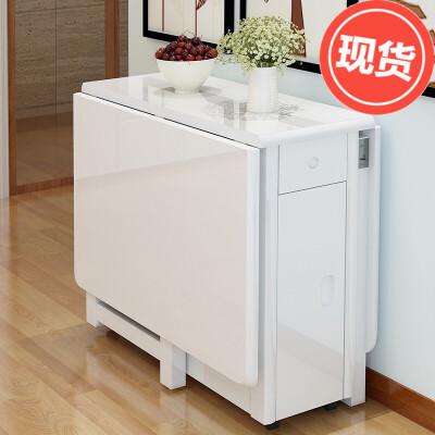 可伸缩折叠餐桌椅组合简约现代实木脚家具小户型餐桌长方形饭桌子  h8t