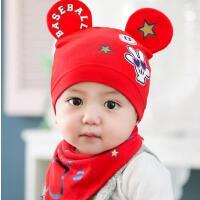 韩版宝宝帽子秋冬3-6-个月新生婴幼儿胎帽春天男女婴儿帽套