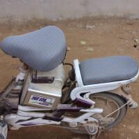 四季通用电动车座套自行车防晒透气坐套 电瓶车坐垫套 电车座垫套 尖头 灰色+后座套