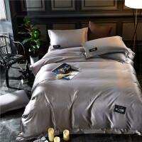 夏季四件套床上用品纯棉夏凉棉冰丝三件套被套床单简约欧式1.8m